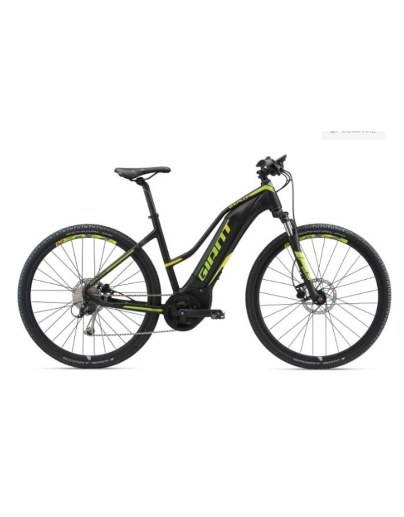 Giant 2018 Giant Explore E+ 3 Staggered Lo-Step Electric MTB Hybrid Bike Black/Lime SML *ON SALE*