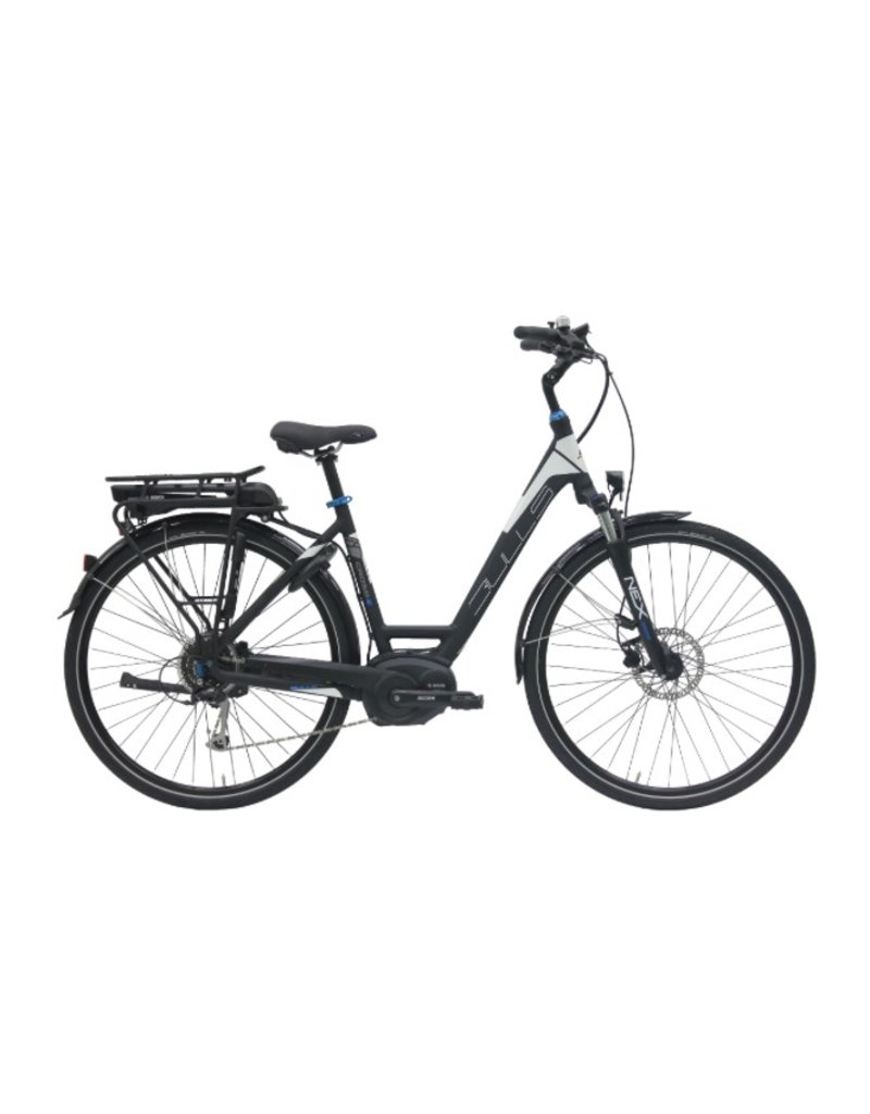 Bulls 2018 Bulls Cross E Wave 28 Black/White 45cm Electric Step-Thru Comfort Bike