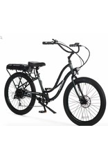 "Pedego 2018 Pedego Interceptor III Step-Thru 26"" 48Volt 10Ah - BLACK Balloon/Fender Upgrade* Electric Bike"