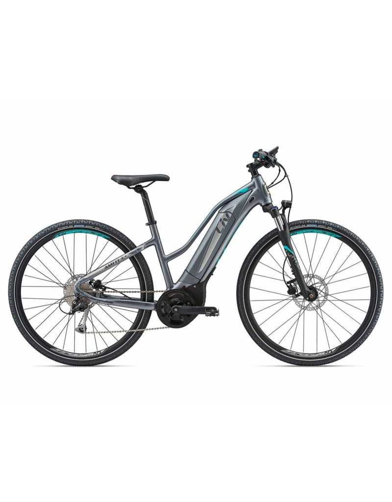 Giant 2018 Liv Amiti E +2 Silver/Turquoise MD Electric Mtb Hybrid Bike *ON SALE*