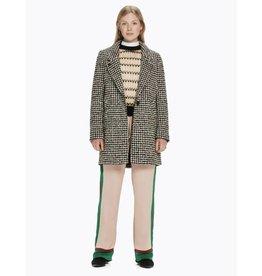 Manteau en laine contrecollée