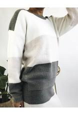 Colour Block Knit Sweater