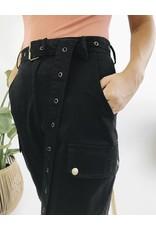 Pantalon cargo taille haute - Noir