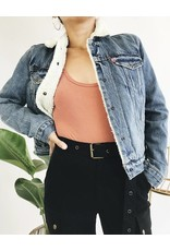 Levi's Denim Jacket with Faux Fur Sherpa Lining