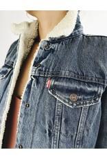 Levi's veste en denim avec doublure Sherpa en fausse fourrure