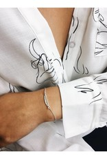 Lauren - Silver Plated Feather Bracelet
