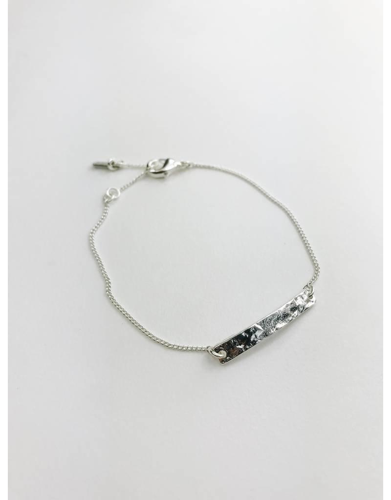 Marley - Bracelet plaqué argent avec plaque