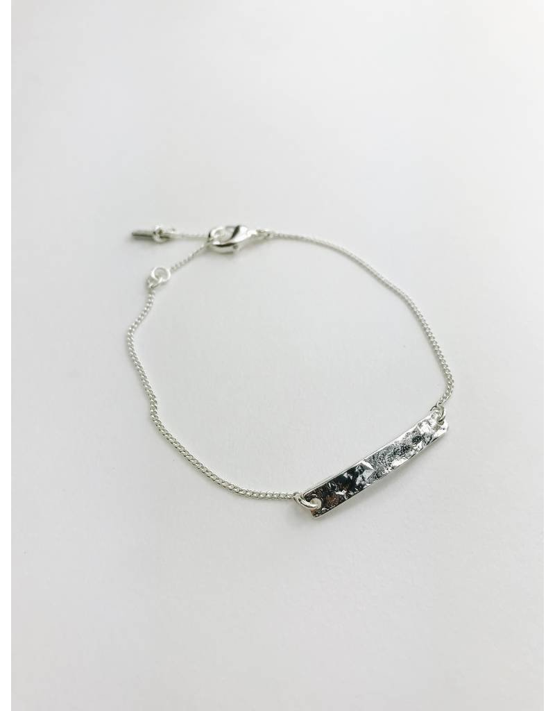 Marley - Silver Plated Plaque  Bracelet