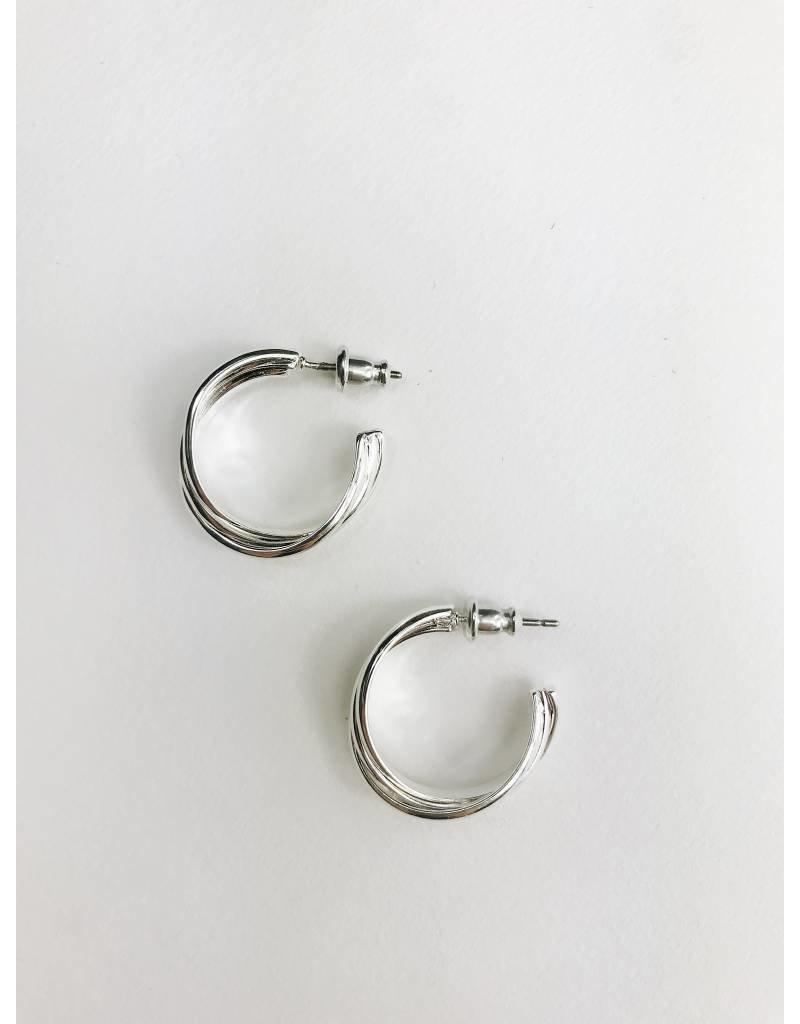 Jenifer - Silver Plated Earrings
