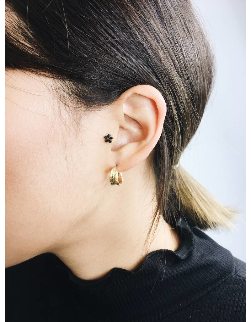Lauren - Gold Plated Feather Earrings