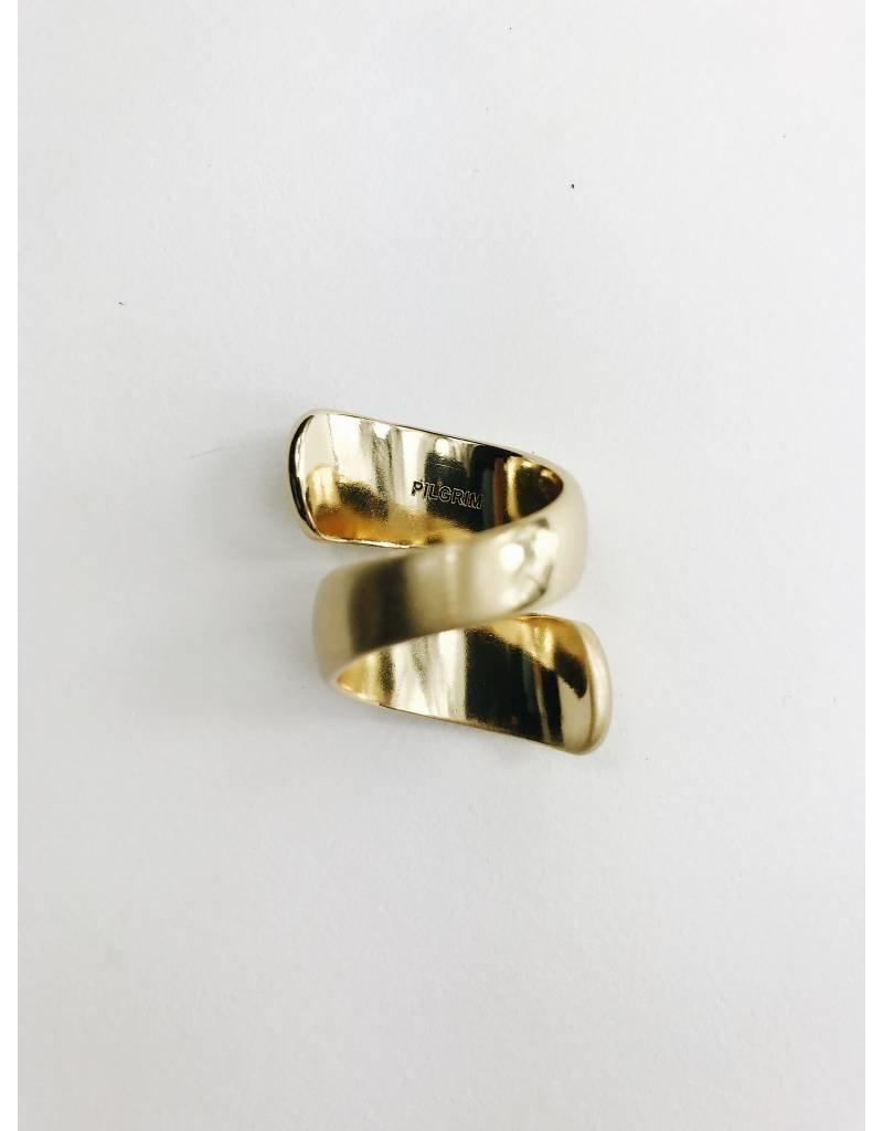 Karen - Gold Plated Adjustable Spiral Ring