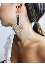 Julia - Boucles d'oreilles plaqué argent