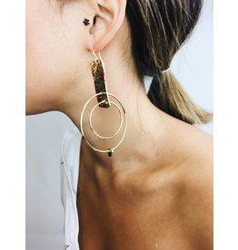Julia - Boucles d'oreilles plaqué or