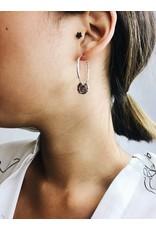 Marley - Boucles d'oreilles médaillon plaqué argent