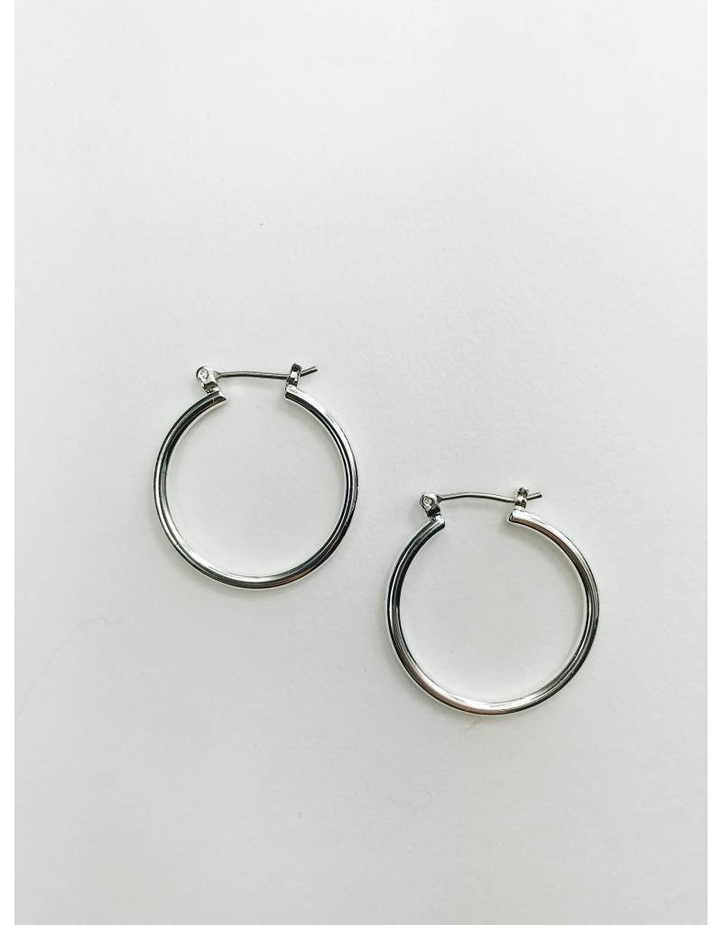 Layla - Silver Plated Hoop Earrings - Small