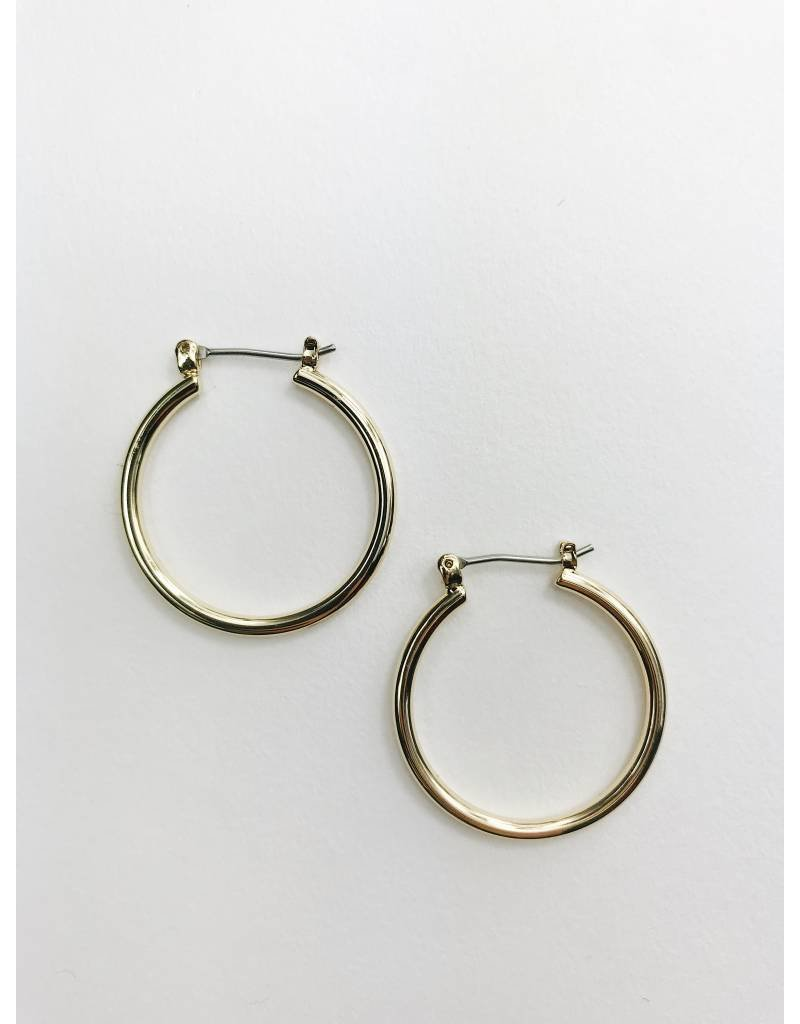 Layla - Gold Plated Hoop Earrings - Small