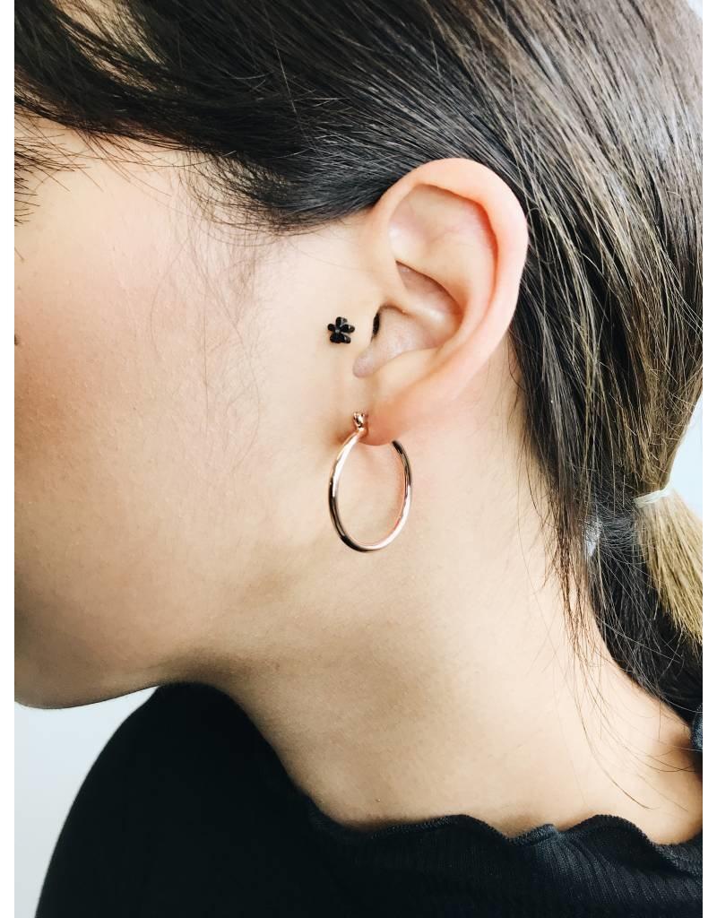 Layla - Boucles d'oreilles plaqué or rose - petit