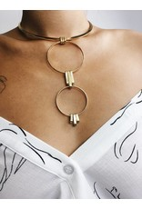 Aviva - Gold Plated Statement Necklace