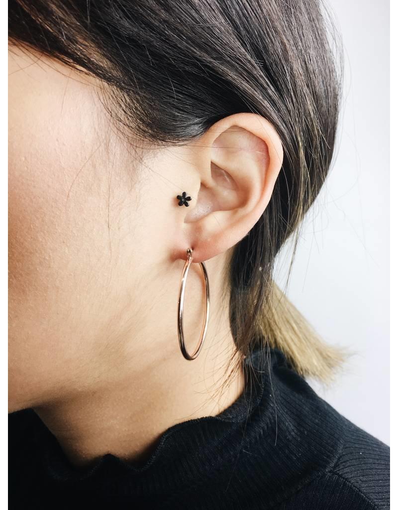 Layla - Rose Gold Plated Hoop Earrings - Big