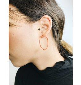 Misty - Boucles d'oreilles plaqué argent avec émail rouge