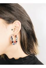 Delia - Boucles d'oreilles en écaille de tortue multicolore