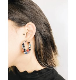 Delia - Multicolour Tortoise Earrings