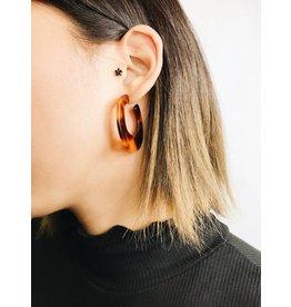 Delia - Brown Tortoise Earrings