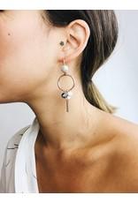 Sunny - Boucles d'oreilles plaqué or rose avec cristal