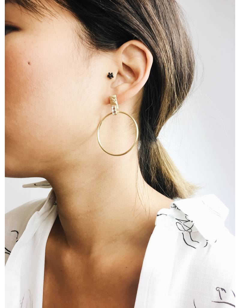 Crystal - Gold Plated Earrings