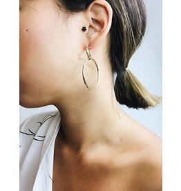 Becky - boucles d'oreilles plaqué or