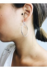 Becky - boucles d'oreilles plaqué argent