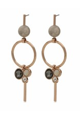 Sunny - Rose Gold Plated Earrings with Crystals