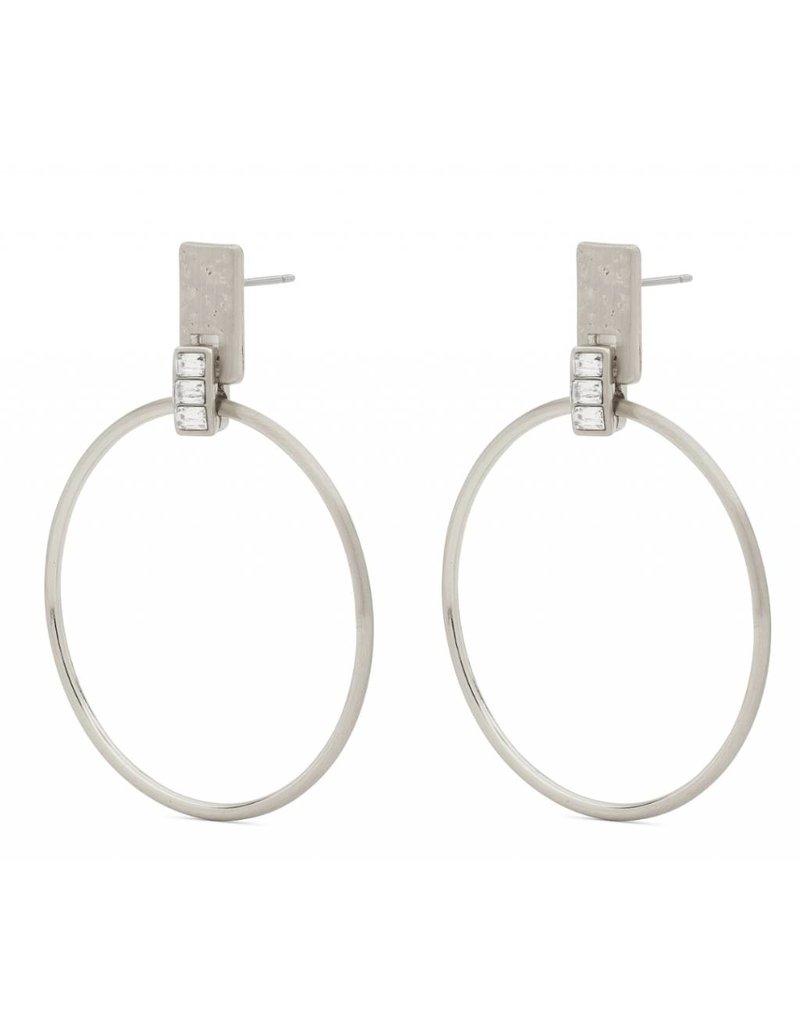 Crystal - Boucles d'oreilles plaqué argent