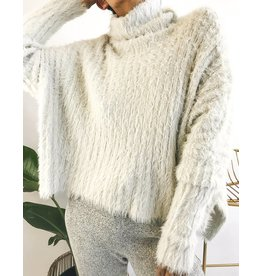 Oversized Turtleneck Sweater Super Soft & Fuzzy