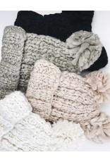 Bonnet à deux pompons - Blanc