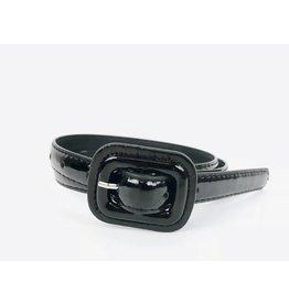 Slim Patent Finish Belt - Black
