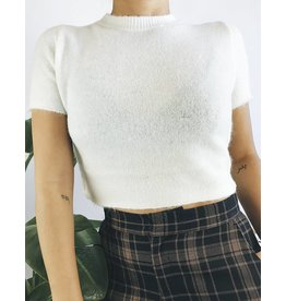 Fuzzy Cropped T-Shirt