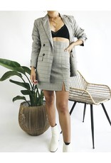 Double Breasted Plaid Blazer