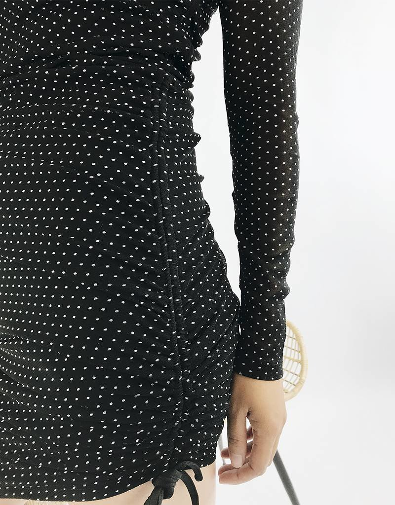 Adjustable Length Polka Dot Dress
