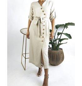 Robe à manches courtes avec boutons
