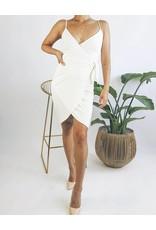 Bodycon Wrap Style Dress with Straps