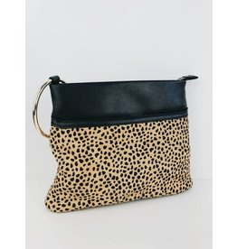 Faux-Fur Leopard Clutch
