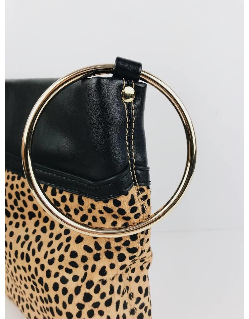 Pochette léopard en fausse fourrure