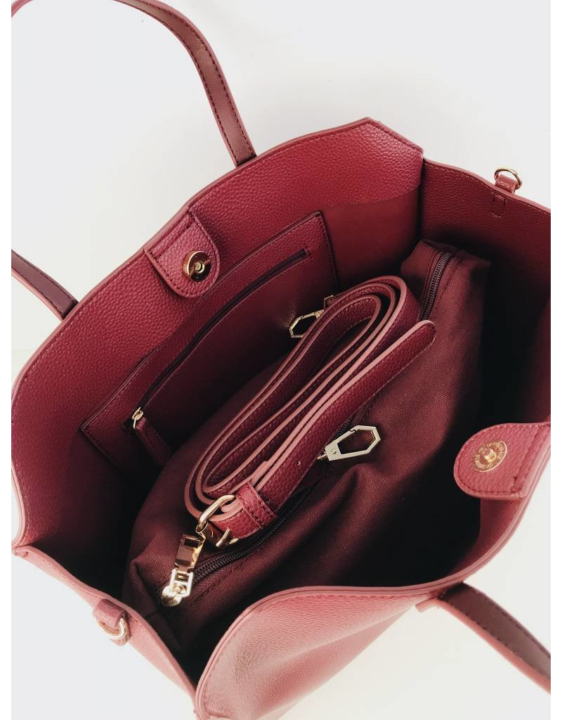 Faux Leather Soft 2 in 1 Tote Bag