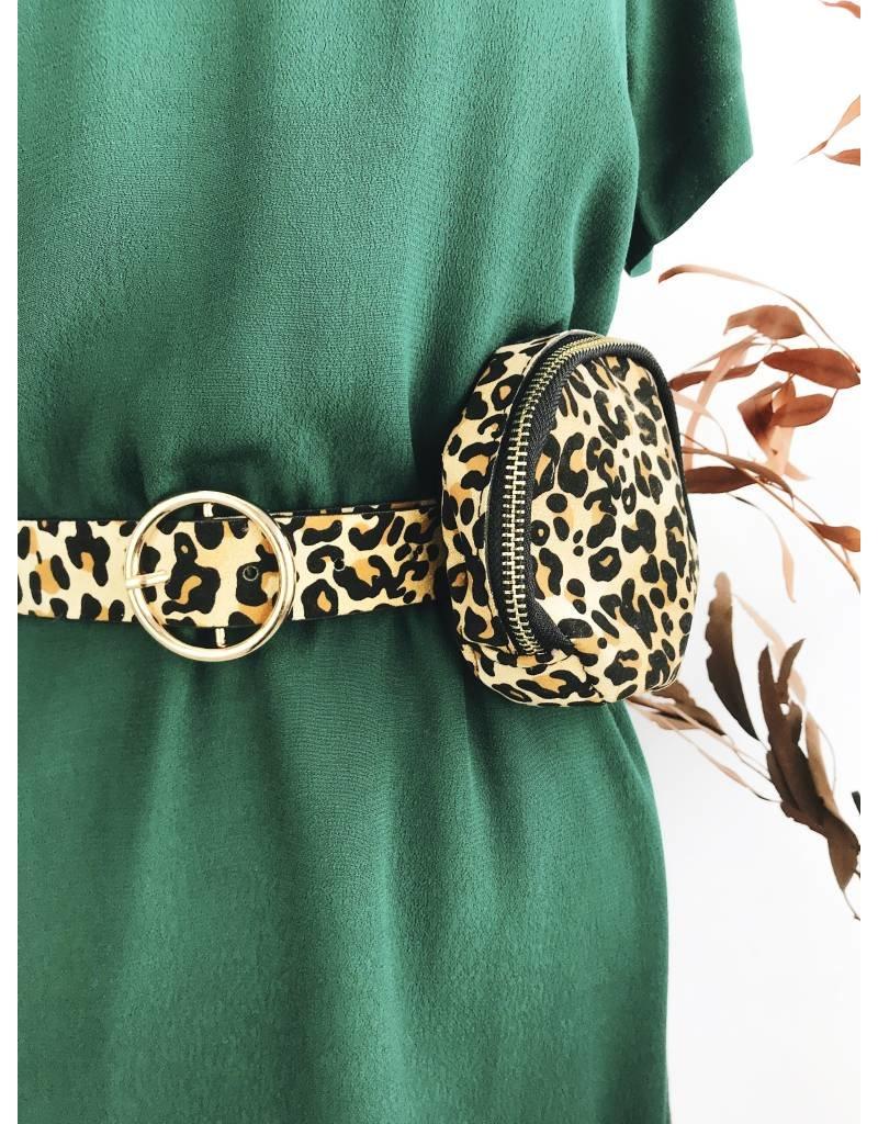 Round Belt Bag - Leopard