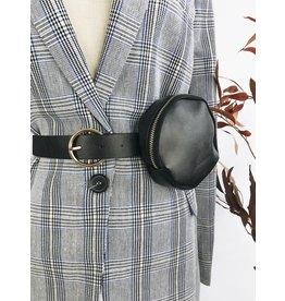 Round Belt Bag - Black