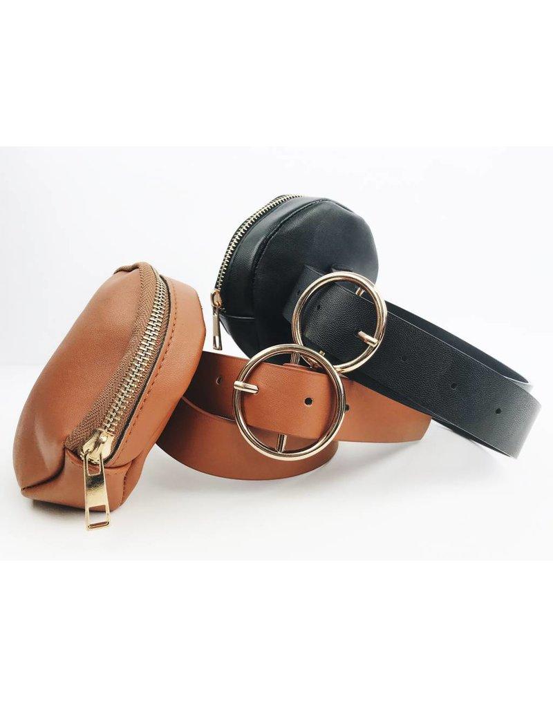 Sac ceinture Rond - Noir
