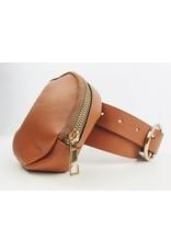 Round Belt Bag - Brown