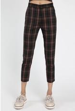 Pantalon taille haute motif plaid
