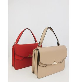 Double Compartment Crossbody Satchel Bag